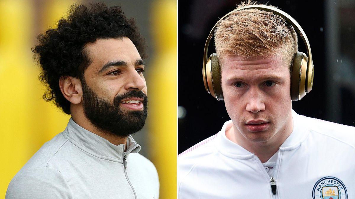 Mohamed Salah and Kevin De Bruyne