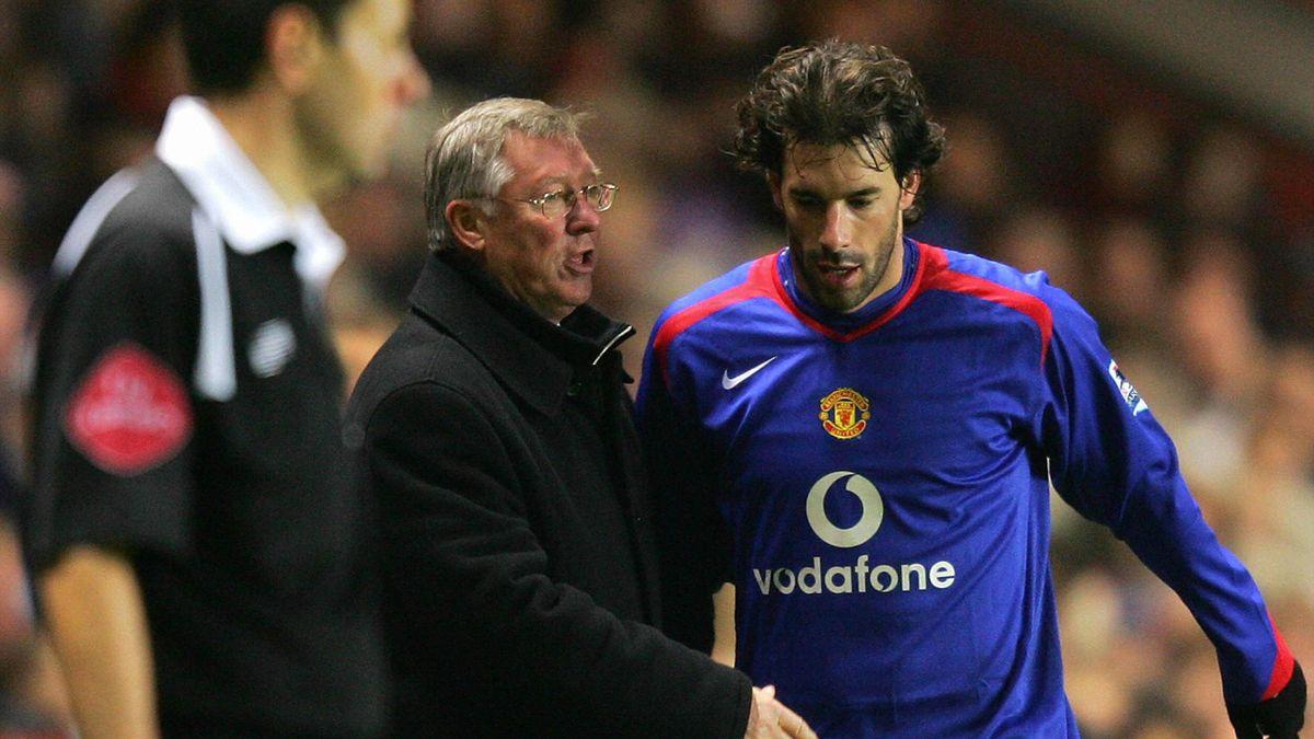 Rudd Van Nistelrooy și Sir Alex Ferguson