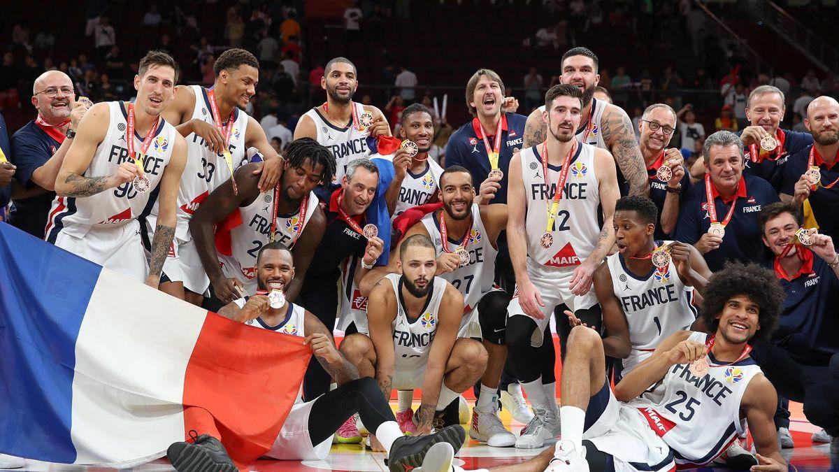 L'équipe de France en bronze après le Mondial 2019