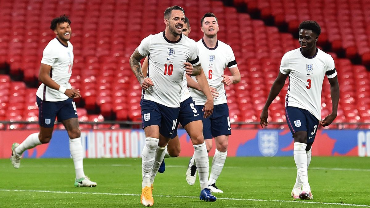 Danny Ings of England celebrates