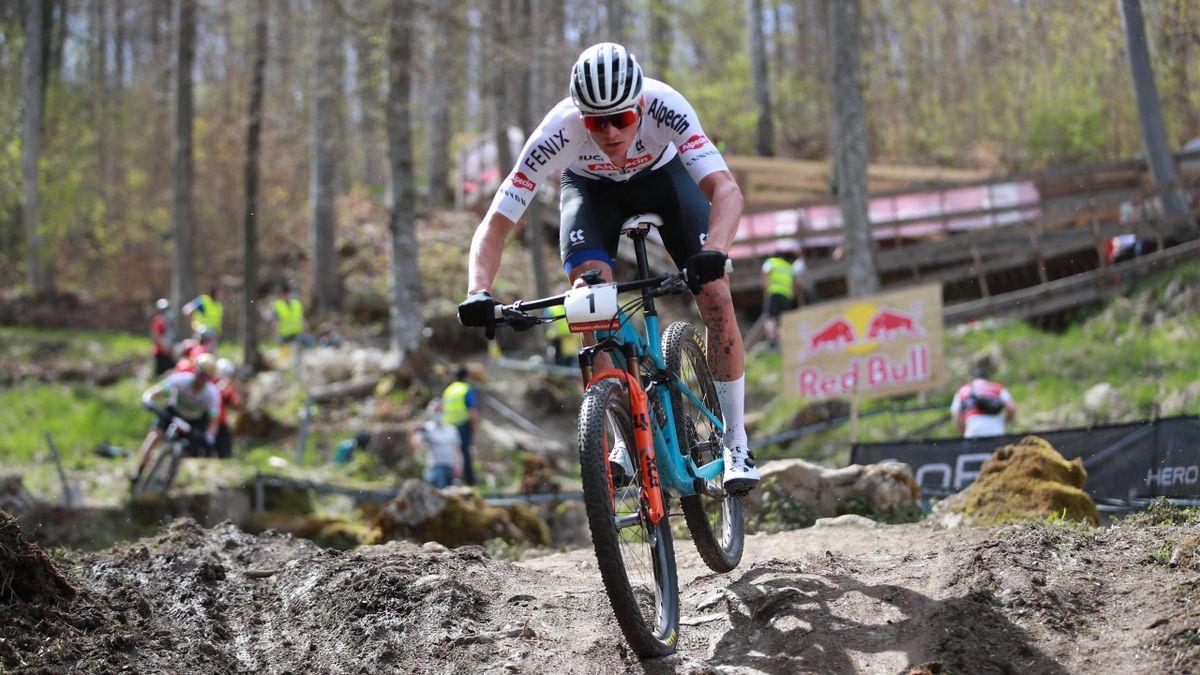 Mathieu van der Poel (Alpecin). Copa del Mundo mountain bike 2021 Albstadt