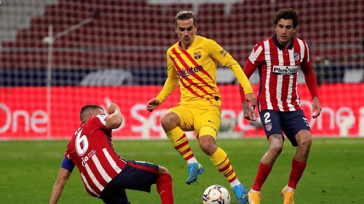 Antoine Griezmann (FC Barcelona) im Spiel gegen seinen Ex-Klub Atlético Madrid