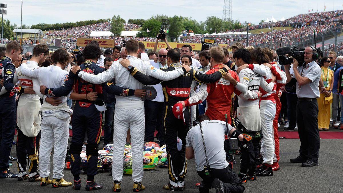 Minuto de silencio de los pilotos de Fórmula 1