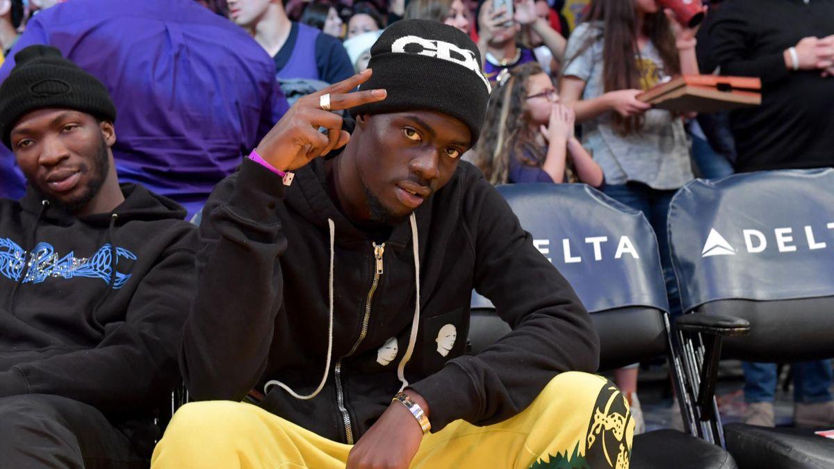 Sheck Wes présent lors de la rencontre entre les Lakers et les Suns, en janvier 2020