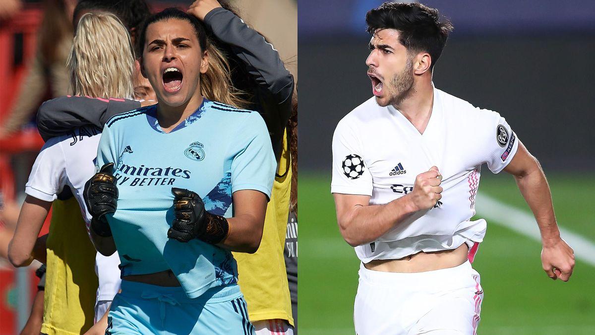 Misa Rodriguez und Marco Asensio (Real Madrid)