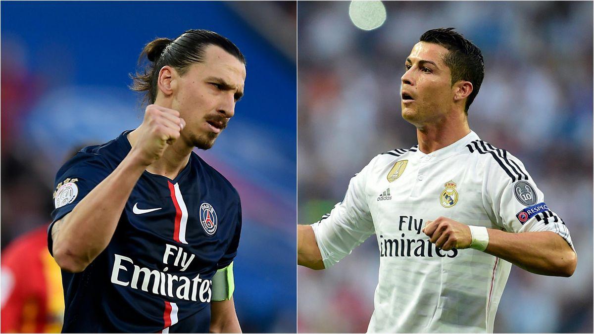 Zlatan Ibrahimovic (PSG) et Cristiano Ronaldo (Real Madrid)