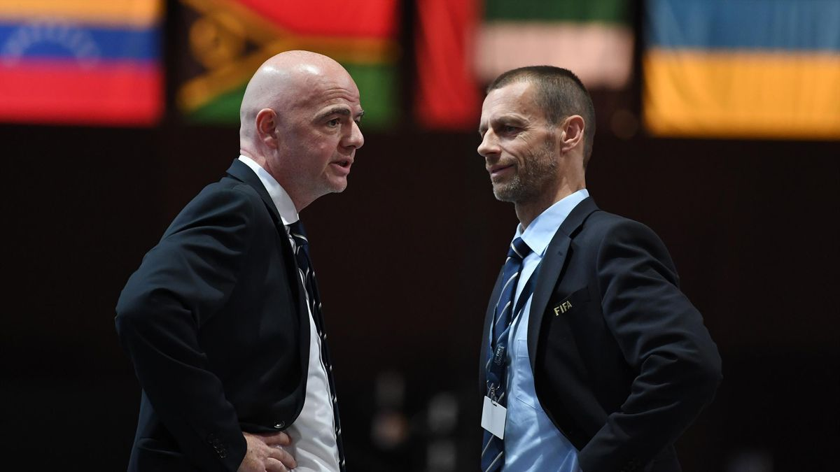 Gianni Infantino e Aleksander Ceferin, numeri 1 di FIFA e UEFA