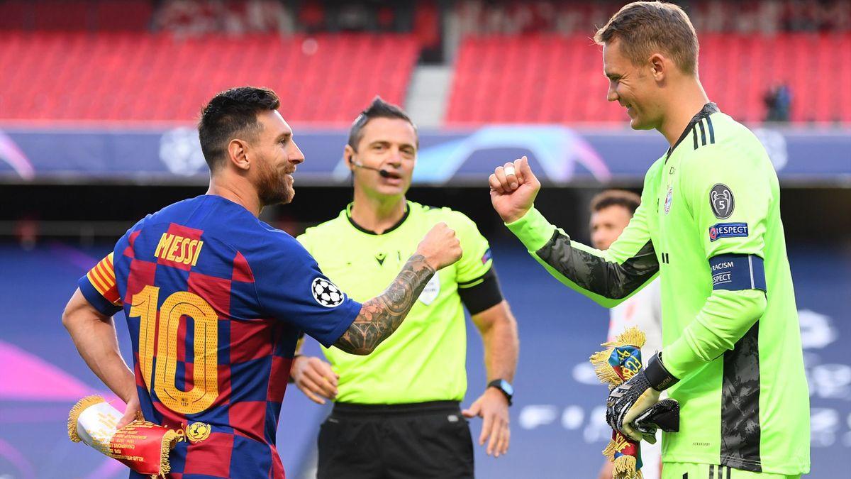 Lionel Messi (l.) und Manuel Neuer (r.)