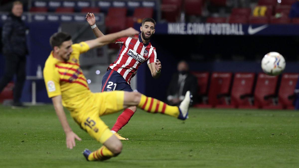 Yannick Carrasco traf für Atlético zum Sieg gegen den FC Barcelona