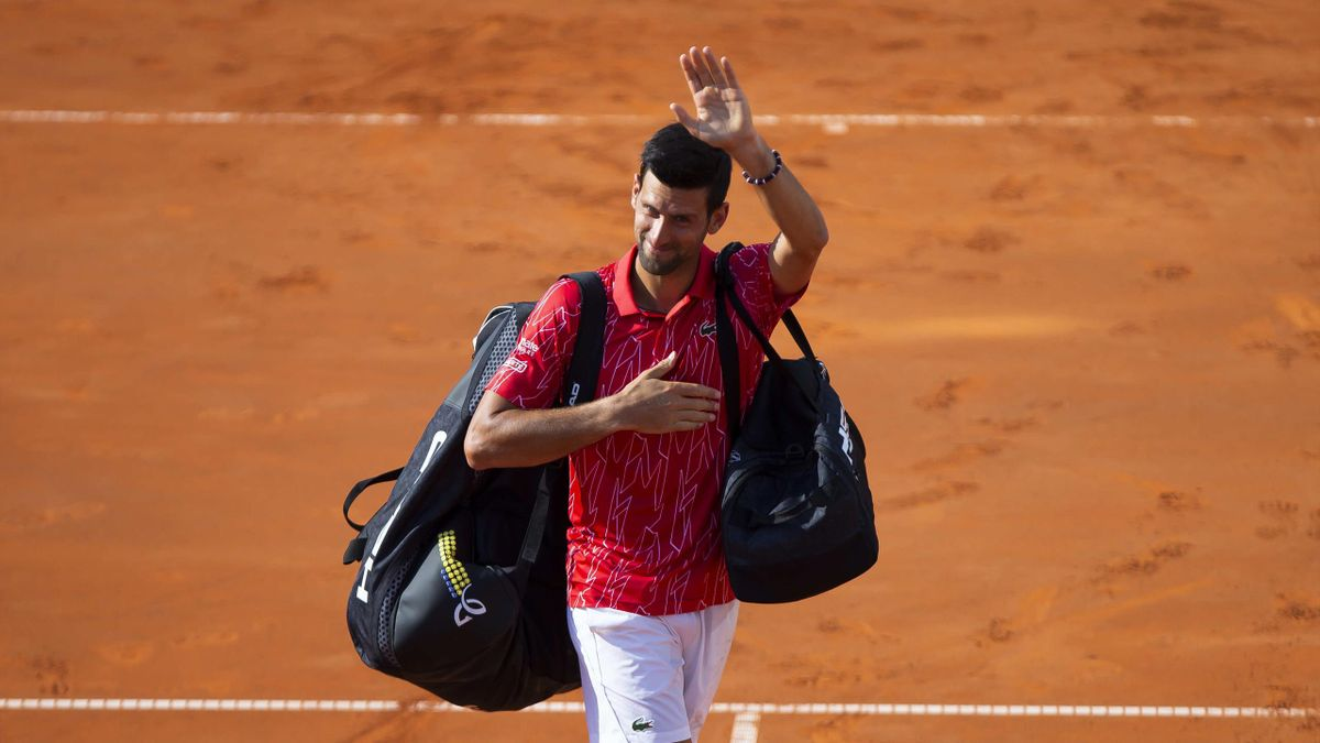 Novak Djokovic greets the fans during the 2nd day of Summer Adria Tour, on June 13, 2020 in Belgrade, Serbia