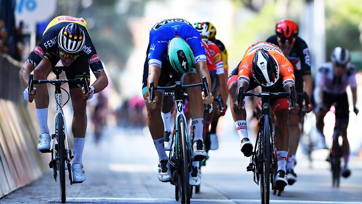 Cycling Tirreno-Adriatico Stage 2 - Finish of the race