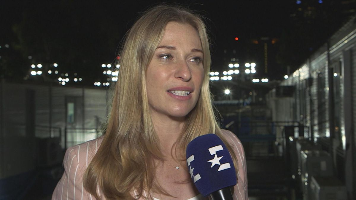 Australian Open: Interview Barbara Schett (English) about Wozniacki - Williams match