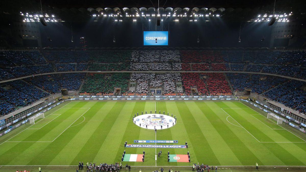 Die italienischen Fans mit einer Choreographie vor einem Nations-League-Spiel 2018