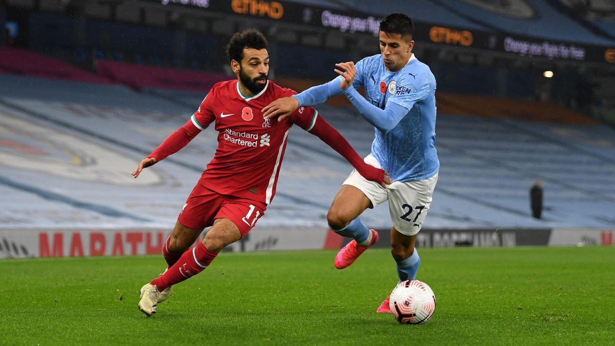 Mohamed Salah (FC Liverpool) etJ oão Cancelo (Manchester City)