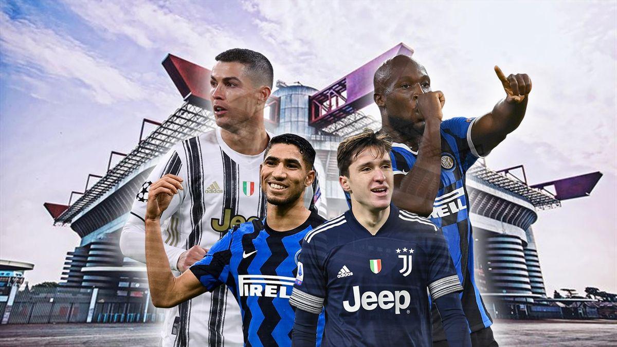 Verso Inter-Juventus: Cristano Ronaldo, Romelu Lukaku, Achraf Hakimi e Federico Chiesa