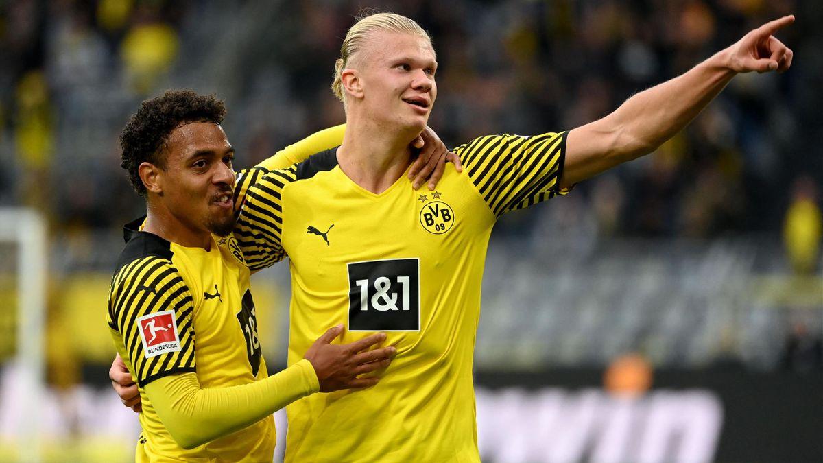Donyell Malen (left) and Erling Haaland - Borussia Dortmund