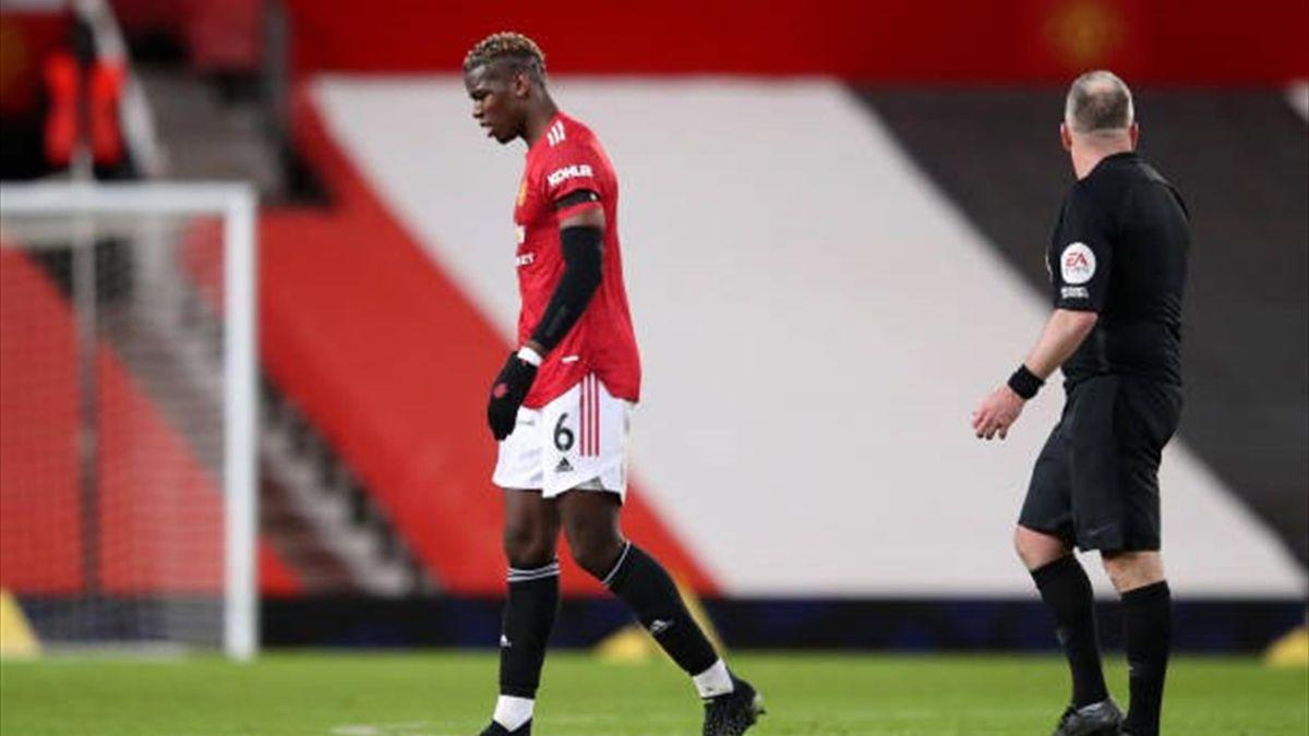 Paul Pogba a ieșit accidentat din meciul Manchester United-Everton