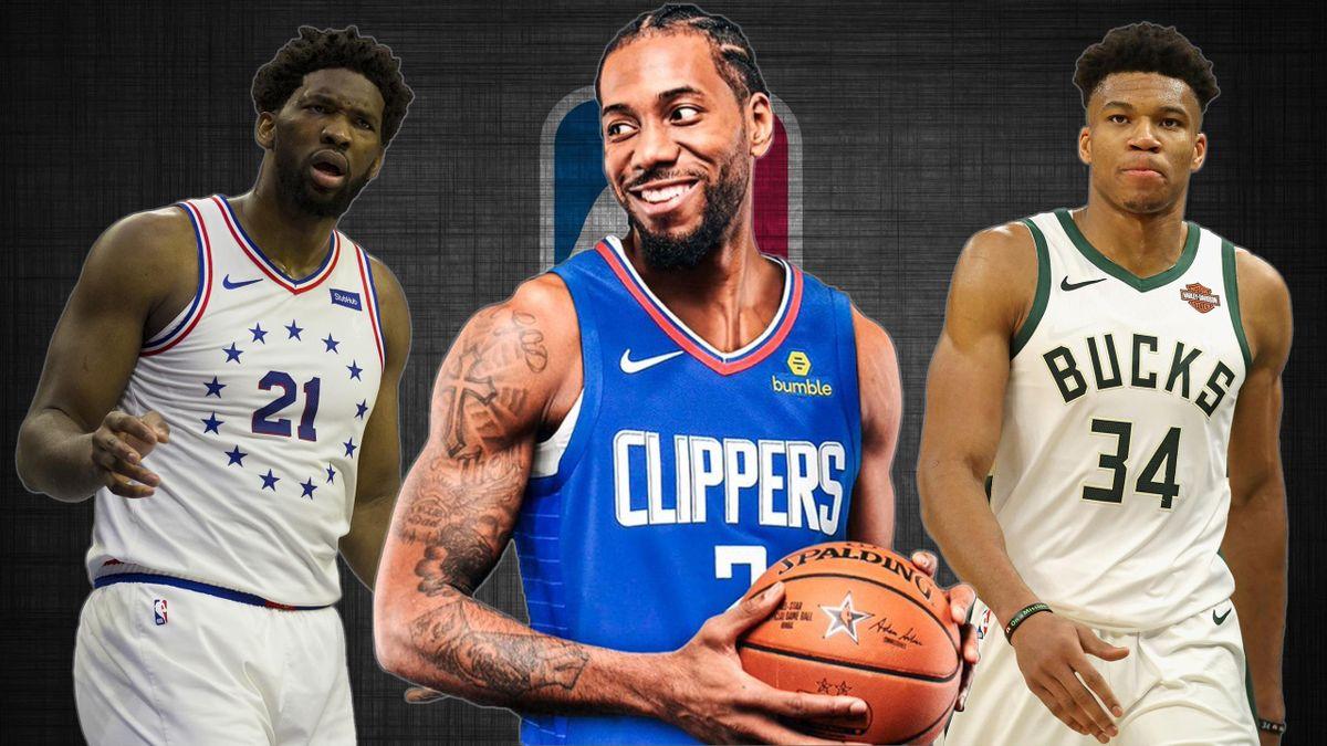 Kawhi Leonard, Joel Embiid, Giannis Antetokounmpo, NBA 2019-20