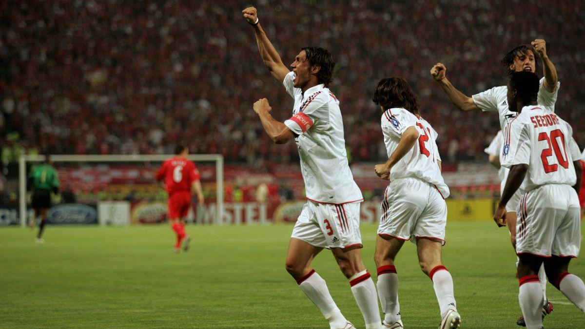Paolo Maldini - Milan-Liverpool - Champions League 2004/2005 - Getty Images