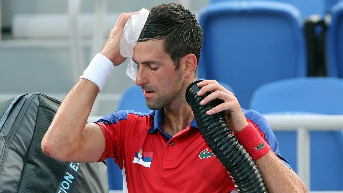 Djokovic tente de trouver de l'air durant le tournoi olympique