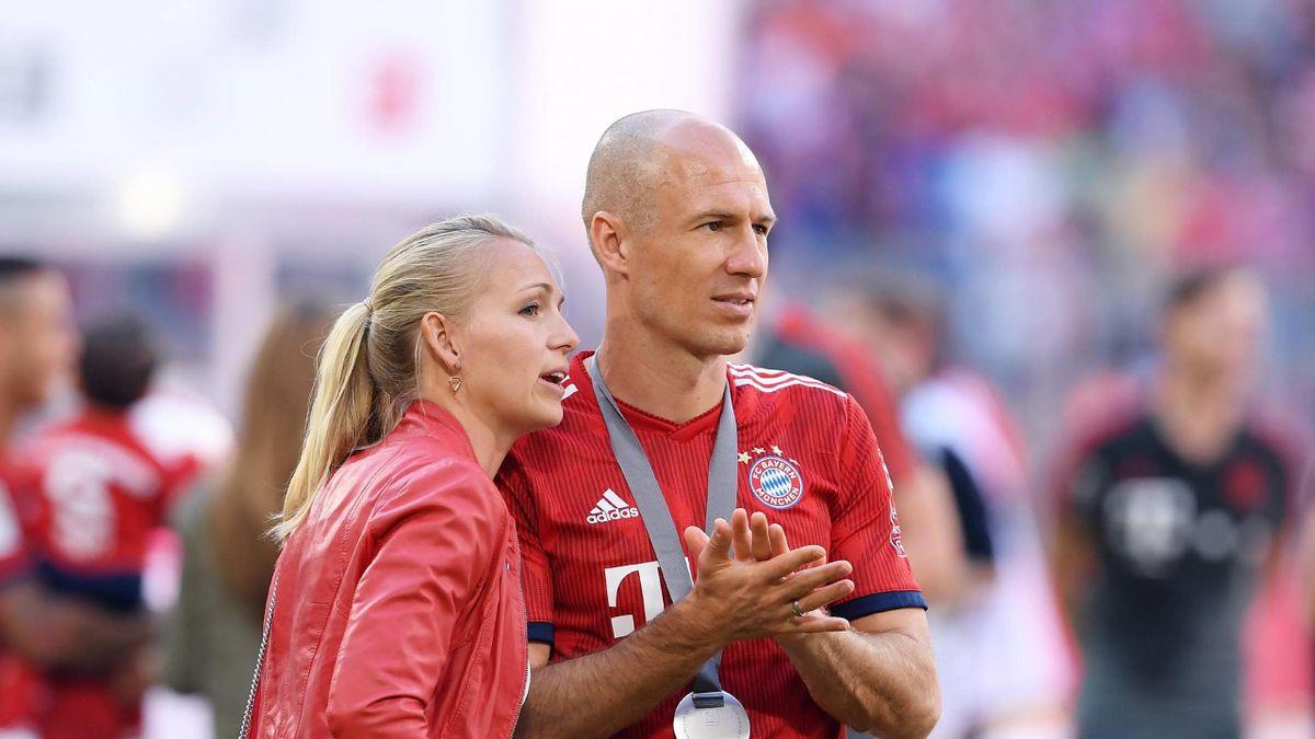 Arjen Robben und seine Frau Bernadien