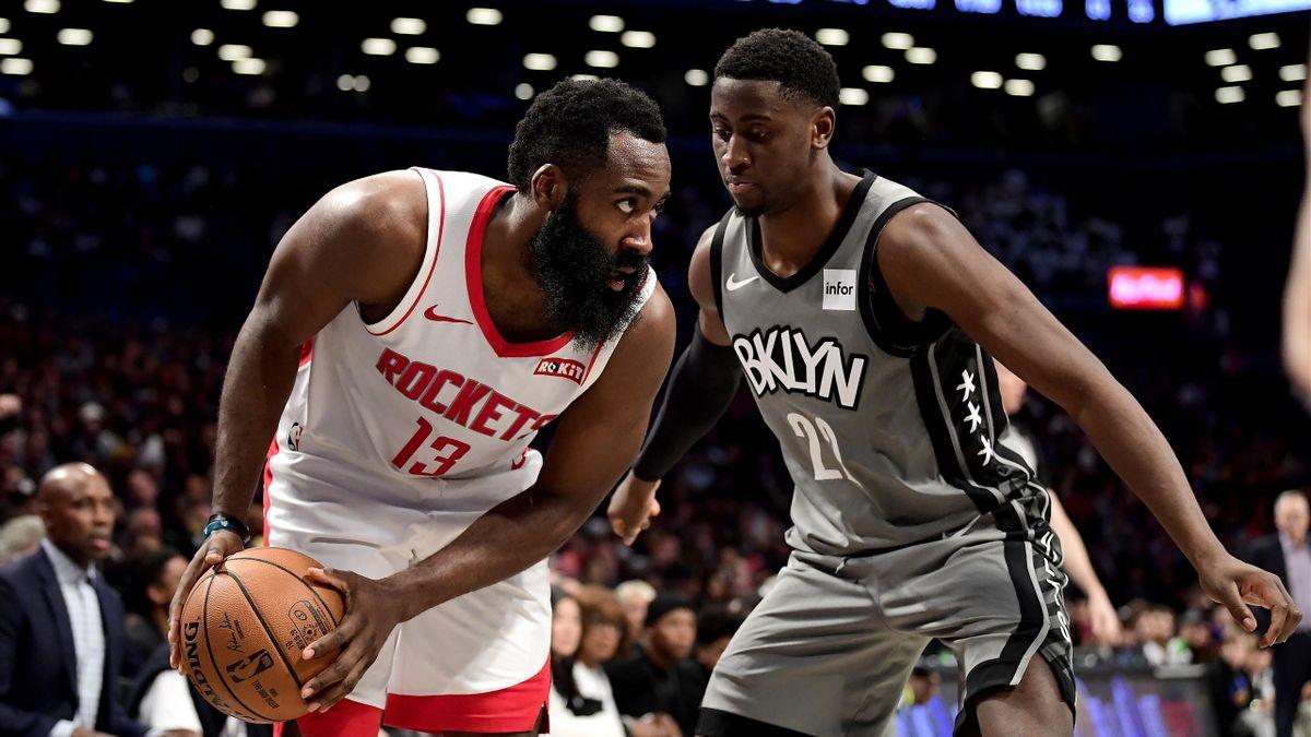 James Harden (l.) wechselt wohl zu den Brooklyn Nets