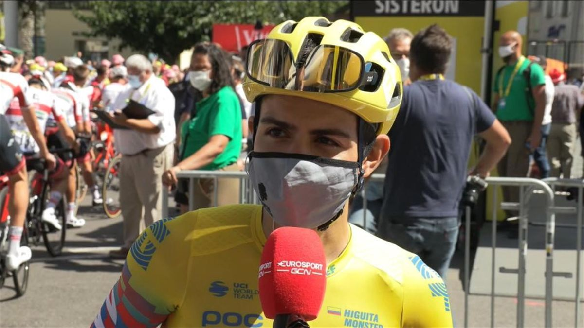 Cycling - Tour de France Stage 4 : Sergio Higuita Interview (in spanish)
