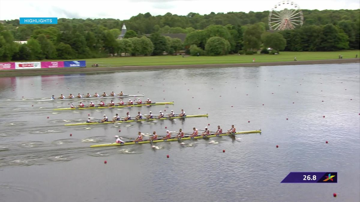 European Championships : rowing highlights Day 1