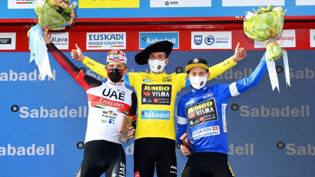 Roglic, Vingegaard és Pogacar