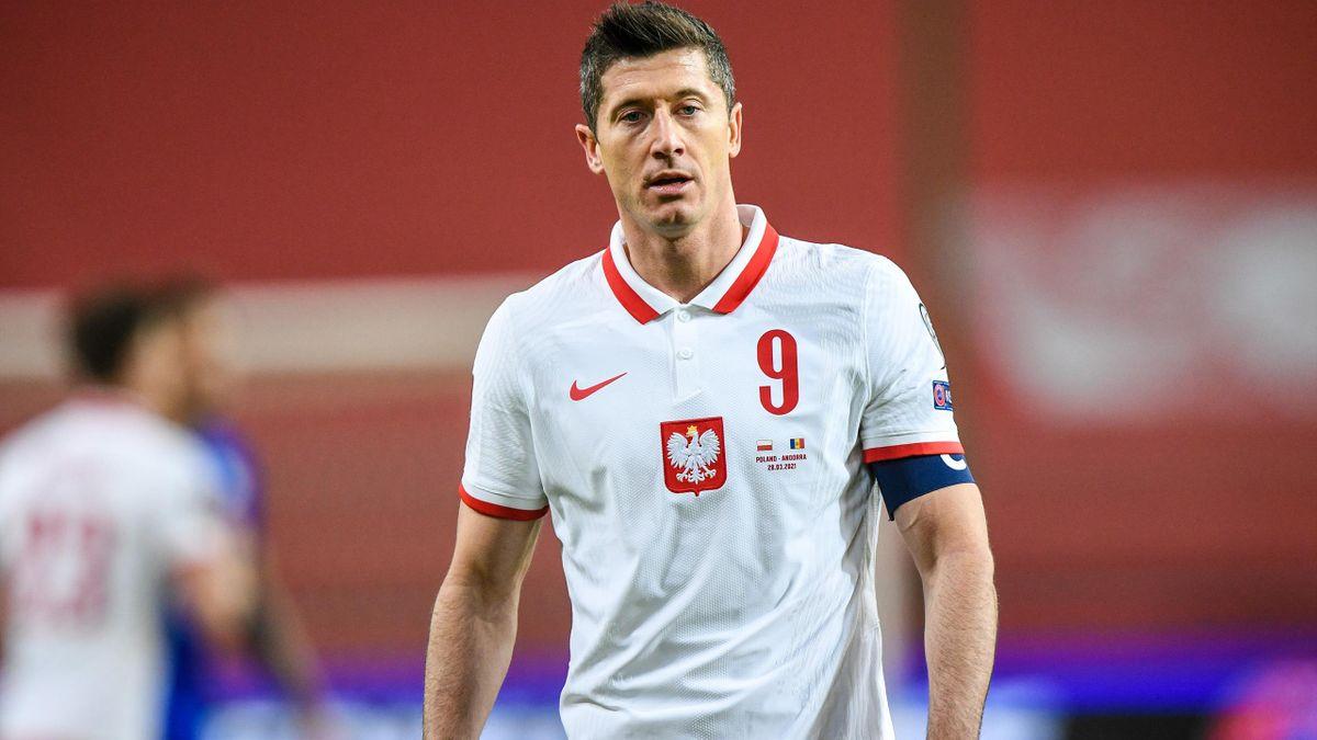 Robert Lewandowski avec la Pologne contre Andorre (3-0)