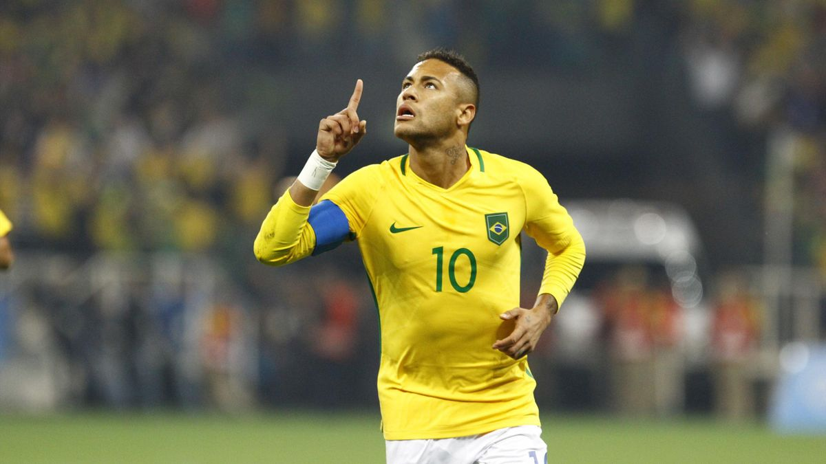Neymar face à la Colombie à Rio 2016