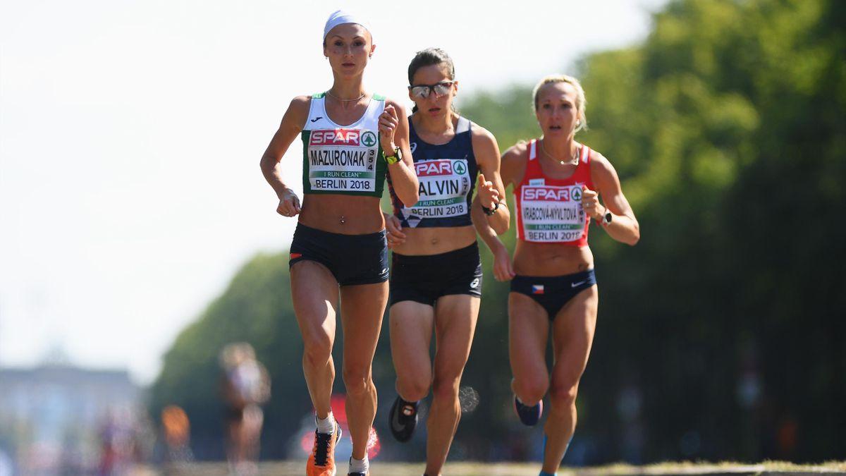 Clémence Calvin pendant le marathon - Championnats d'Europe 2018