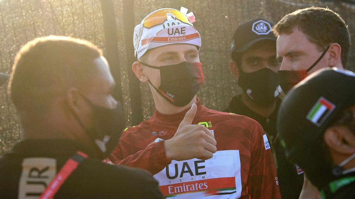Tadej Pogacar of Slovenia and UAE Team Emirates won the UAE Tour