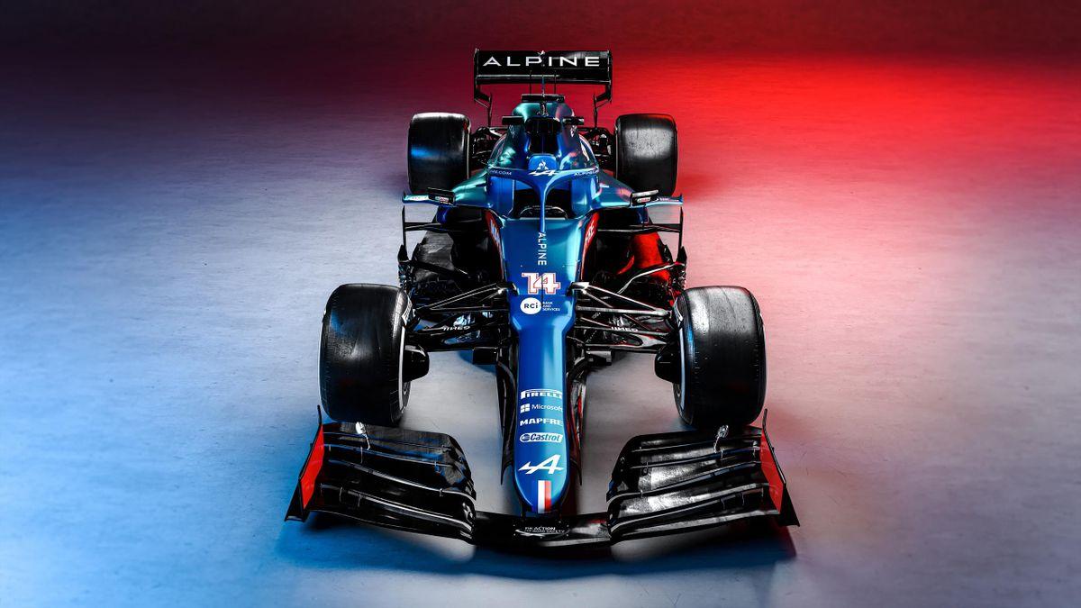 L'Alpine A521, une F1 aux couleurs bleu, blanc, rouge