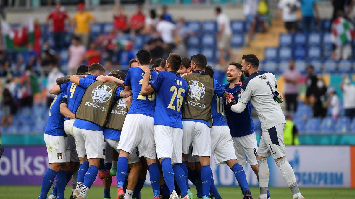 La Nazionale Italiana dopo la partita contro il Galles, Euro 2020