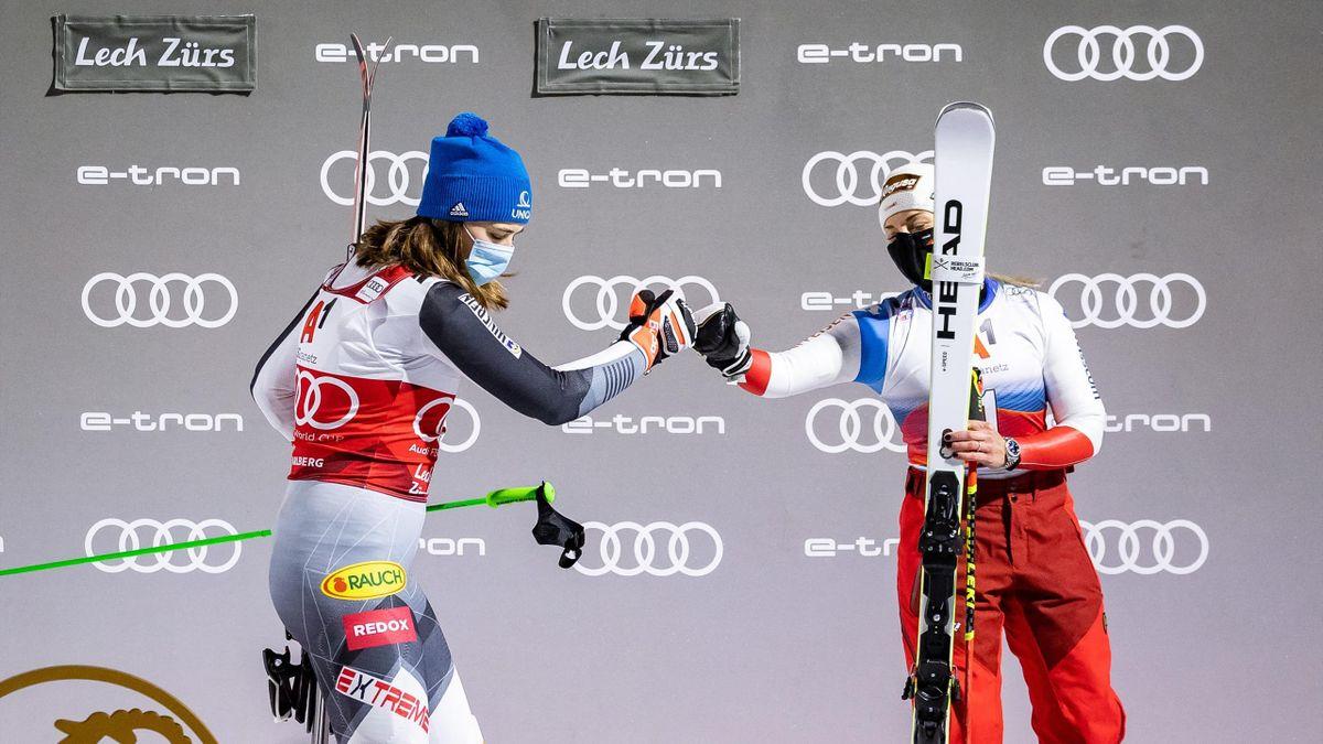 Petra Vlhova és Lara Gut-Behrami