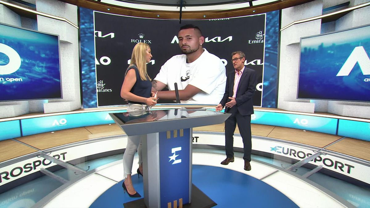 Australian Open : Day 3 : Eurosport cube : point of view of Mats about the story Kyrgios v Djoko