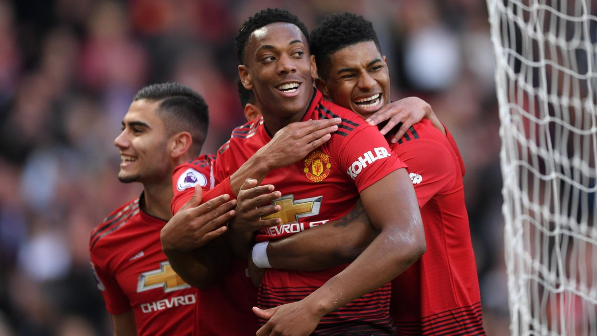 United Beat Watford 2 1 Rashford Martial Score Eurosport