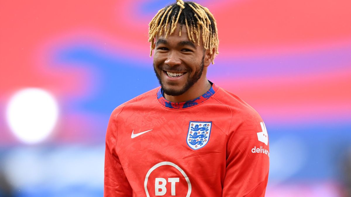 Reece James of England looks on as he warms up ahead of the UEFA Nations League group stage match between England and Belgium