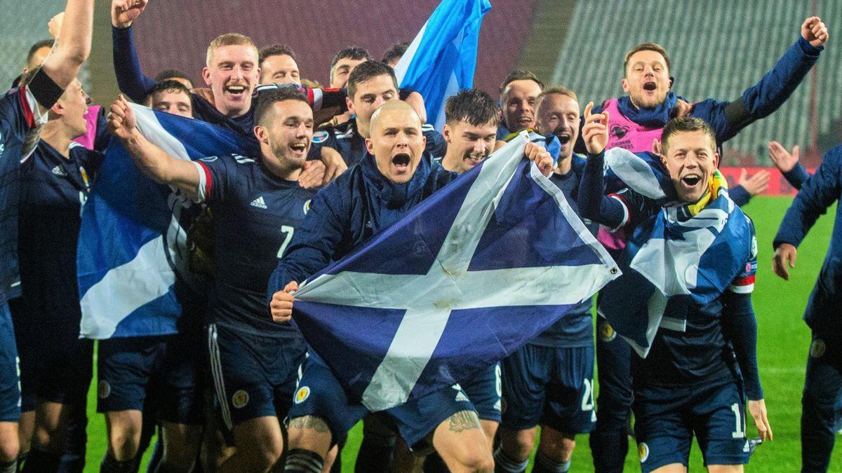 Scotland celebrate historic victory.