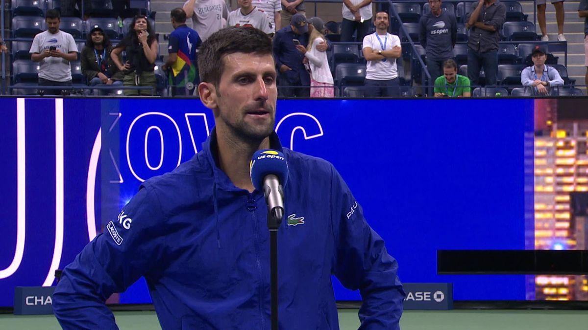 US Open   Djokovic kapt interview af zodra het over Calendar Grand Slam gaat
