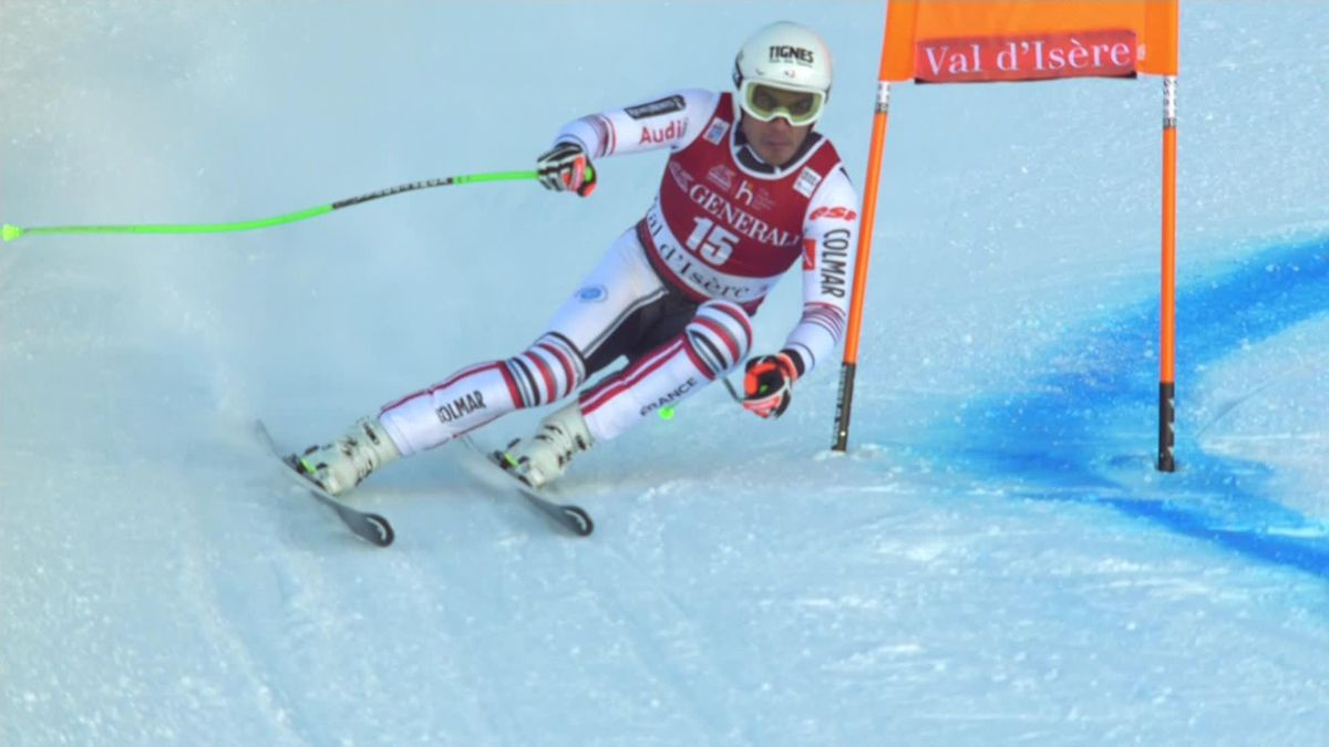 Alpin Skiing - Men Downhill Val d'Isère - Clarey first run