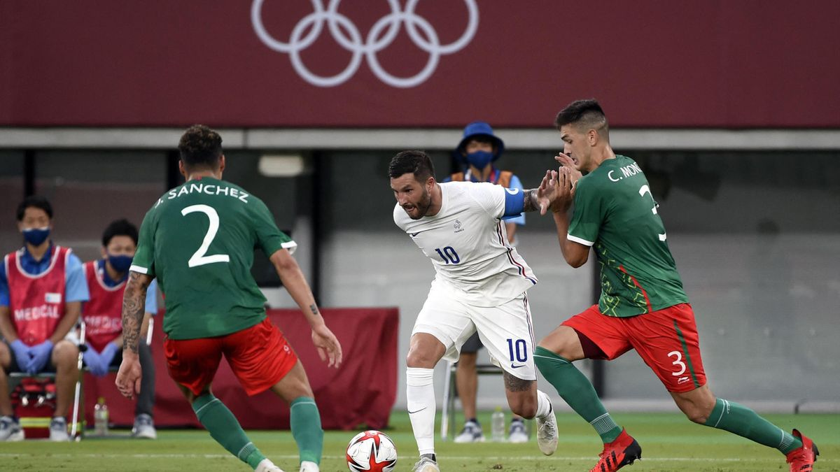 Andre-Pierre Gignac (FRA) competes in Football Men's Match Mexico vs France during the Olympic Games Tokyo 2020, on July 22, 2021, at Tokyo Stadium, in Tokyo, Japan, Photo Jean-Marie Hervio / KMSP