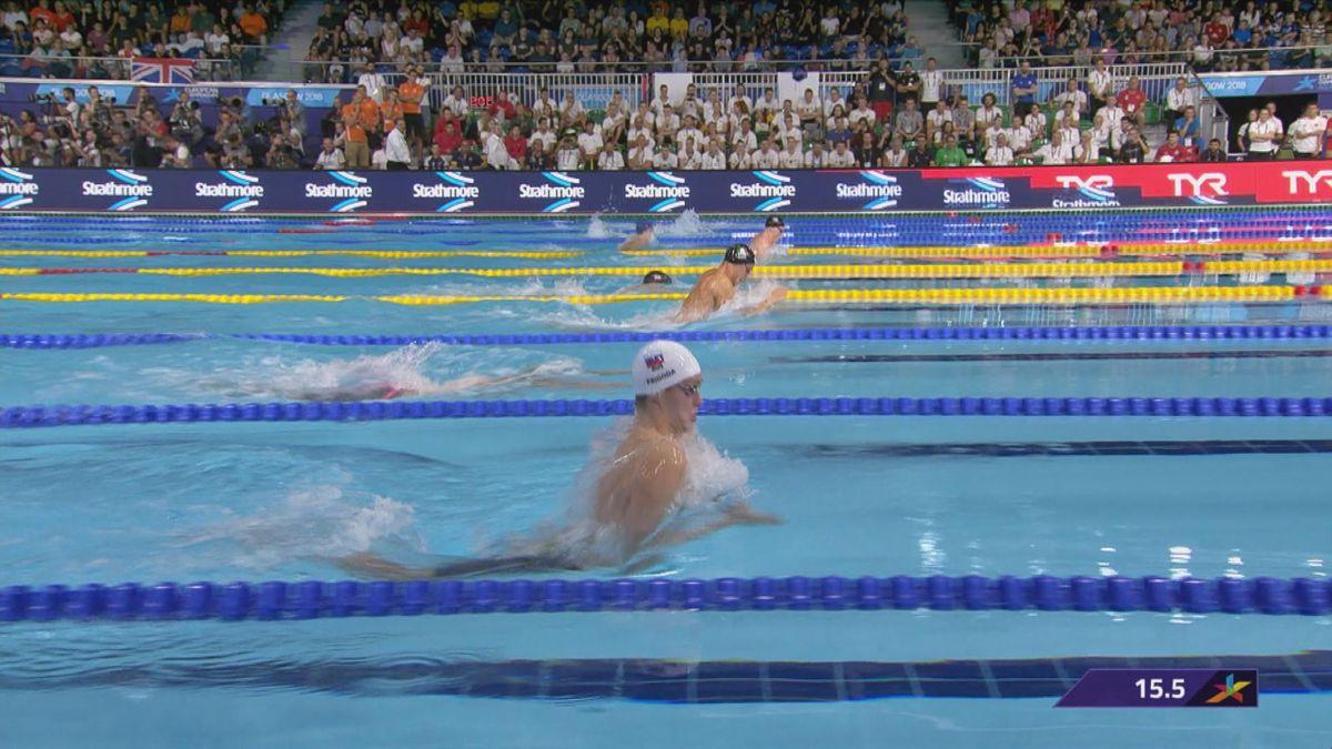 European Championship : 100m Breaststroke Men