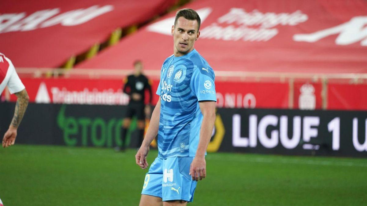 Monaco-Olympique Marsiglia, Ligue 1 2020-2021: Arkadiusz Milik (Marsiglia) (Getty Images)