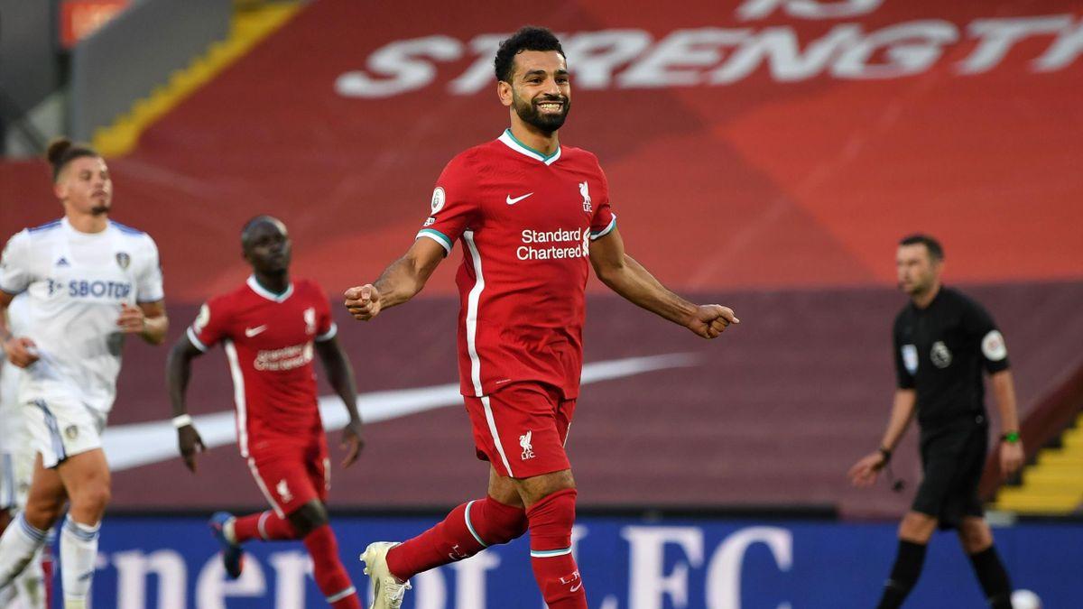 Mo Salah a reuşit o triplă în disputa cu Leeds