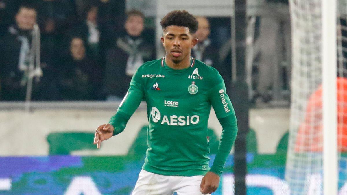 Wesley Fofana lors de Saint Etienne - Nice en Ligue 1 le 4 décembre 2019