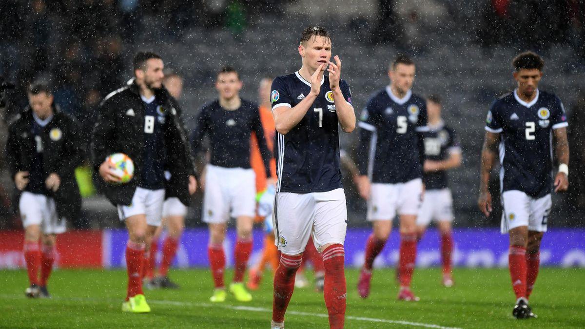 Scotland beat San Marino 6-0 in torrential conditions at Hampden Park