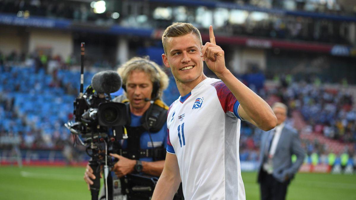 Island-Star Alfred Finnbogason ist heiß auf das Spiel gegen Deutschland