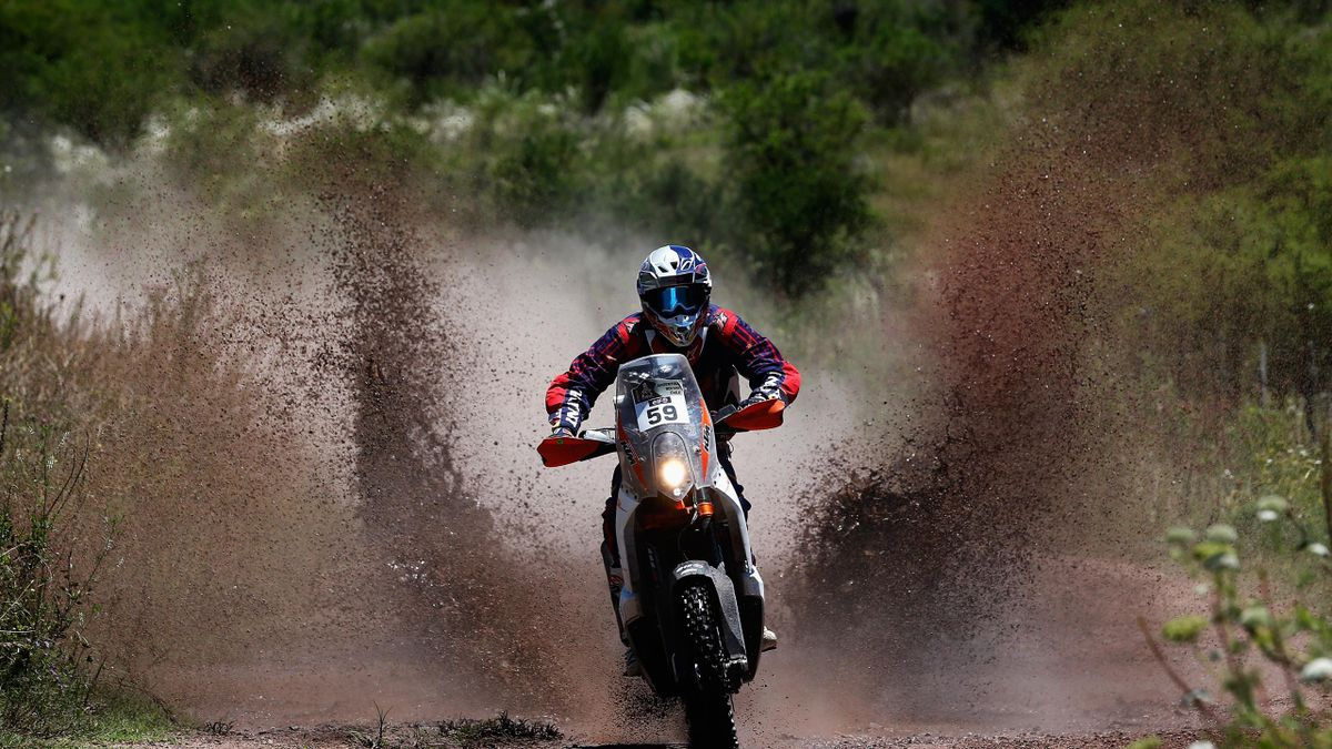 CS Santosh, Dakar Rally, Argentina, January 16